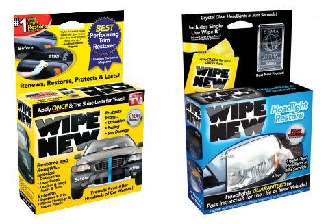 Headlight restore wipes